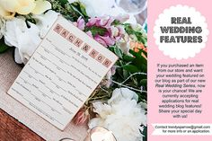 Accepting Applications for Real Wedding Features!