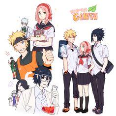 Naruto-sakura-sasuke in highschool