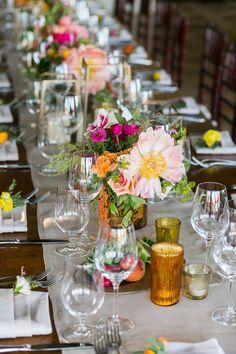 Mexican Wedding Reception, Hacienda Wedding, Spanish Wedding, Bright Wedding Flowers, Wedding Colors, Unique Flowers, Floral Wedding, Wedding Table Decorations, Wedding Centerpieces
