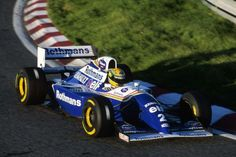 Ayrton Senna em um teste de pré-temporada em Estoril, Portugal, 1994.