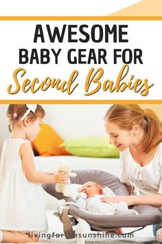 Your can be a lot of work, especially when you're also caring for a toddler. Learn which must-have items make having (or a baby and slightly older child) so much easier and less stressful! Baby Must Haves, Get Pregnant Fast, Getting Pregnant, Second Baby, Second Child, Kids And Parenting, Parenting Hacks, Baby Hacks, Baby Tips