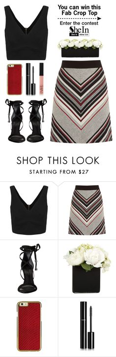 """Enter the contest"" by yexyka ❤ liked on Polyvore featuring Warehouse, Schutz, Chanel and NARS Cosmetics"