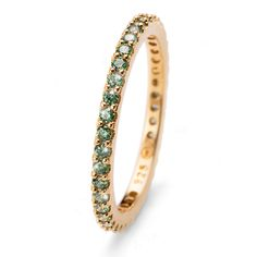 Ring Jolie gold green L Winter Collection, Fields, Bracelets, Rings, Green, Gold, Jewelry, Fashion, Moda