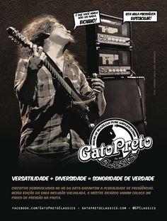 """Ad 4 - Guitar Player Magazine - Jun/13 Who: Ricardo Vignini - Matuto Moderno, Moda de Rock - Campaign: """"Inclusão Valvulada"""""""