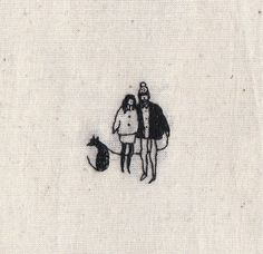 A lovely little embroidery couple... perfect in a big square frame. Fabric size - 66 Small people - 5mm - 10mm