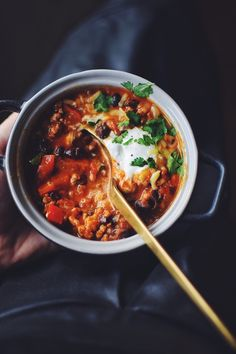 Chilli con Cukrfree • CukrFree.cz Ramen, Chili, Soup, Ethnic Recipes, Chile, Soups, Chilis