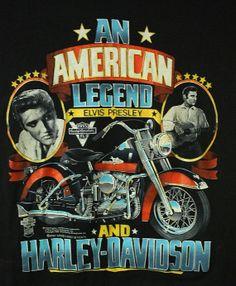 Vintage 80's Elvis Harley Davidson T Shirt American by Twinfinity, $50.00