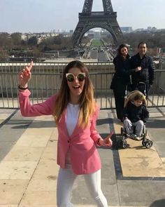 #paris #fashion #style #parisfashionweek #blazer #pink #outfit