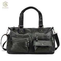 Cheap fashion handbag, Buy Quality handbags fashion directly from China handbag for men Suppliers: AHRI Hot sales Men Solid PU Leather Shoulder Men's Casual Tote Bag Brown Vintage Business Top handle Bag Fashion Handbag For Men Handbags For Men, Fashion Handbags, Men's Totes, Pu Leather, Men Casual, Men Bags, Mens Fashion, Tote Bag, Shoulder