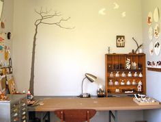 grey skies' studio tour via studio sweet studio