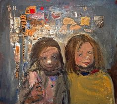 Children and Chalked Wall 3 by Joan Eardley - print