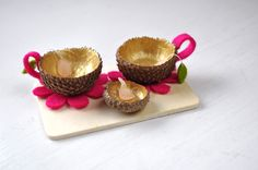 Fairy Tea Set by Curly Birds #DIY #Crafts #Kids #Tea_Set