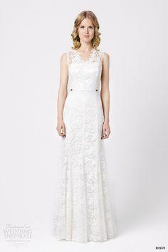 kisui bridal 2015 lilia sleeveless lace wedding dress
