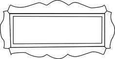 Fancy Plaque Shape Outline | clip art
