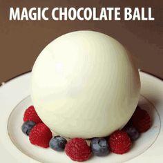 Magic chocolate ball - so strangely satisfying