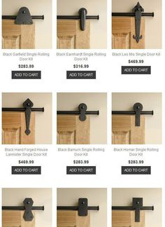 DIY Furniture Plans & Tutorials : Rolling Door Designs: online resource for hardware for rolling barn doors