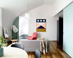 231 Smith Street by Neometro in collaboration with Grant Amon Architects and McAllister Alcock Architects. Decoration Bedroom, Decoration Design, Living Room Inspiration, Interior Inspiration, Furniture Inspiration, Loft Style Apartments, Bedroom Sitting Room, Interior Decorating, Interior Design
