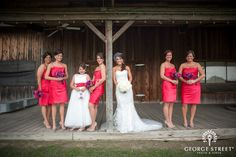 These ladies could make any barn look amazing! #Pink #WeddingInspiration http://go.georgestreetphoto.com/l/9752/2012-10-31/8vzbq