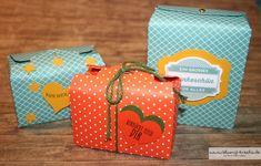 Blumis kreativ Blog: Truhe mit dem Stanz- und Falzbrett für Geschenktüten + Verschluss mit stanzer Gewellter Anhänger