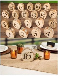 Wood table numbers - knot and nest designs wedding table numbers, wood Wedding Table Centerpieces, Flower Centerpieces, Wedding Favors, Wedding Reception, Wedding Decorations, Wedding Ideas, Wedding Inspiration, Wedding Invitations, Centerpiece Ideas