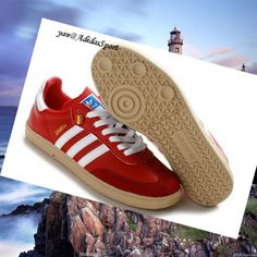 official photos caadf 48903 Red White Gum - Adidas Originals Samba men Trainers,Order popular and super  sneakers here
