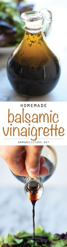 Homemade Balsamic Vinaigrette - Why get store-bought dressing when you can make this in just 5 min? It doesn't get easier (or cheaper) than that!
