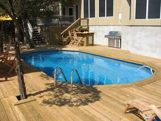 Decked Oval Above Ground Pool - San Antonio, TX by abovegroundpoolcompany, via Flickr