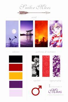 "dashberlins: "" Sailor Moon Moodboards - Sailor Mars """