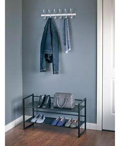Neatfreak - 2-Tier Stackable Shoe Rack Metal Shelves, Shelving, Stackable Shoe Rack, Modern Industrial, Home Organization, Wardrobe Rack, Storage, Furniture, Design