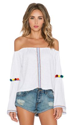 Shop for Pitusa Pom Pom Crop Top in White at REVOLVE. Free 2-3 day shipping and returns, 30 day price match guarantee.