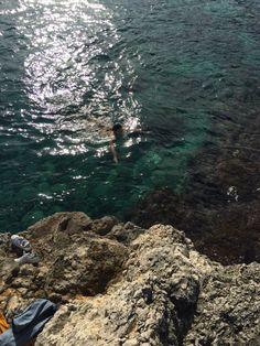 Swimming in January in SIracusa :)