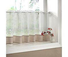 Love half curtain for kitchen window