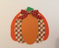 Handmade Thanksgiving Pumpkin Card by JuliesPaperCrafts on Etsy
