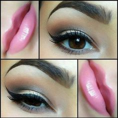 Sexy lip and eye makeup!