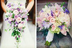 Cinco ideas de ramos de novia morados #bodas #ElBlogdeMaríaJosé #RamoNovia