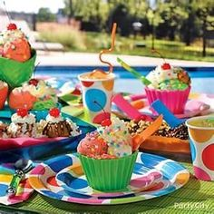 Colorful kids party ideas
