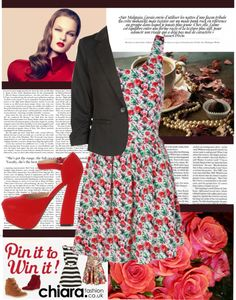 """""""chiara - roses"""" by paloma-r1 ❤ liked on Polyvore"""