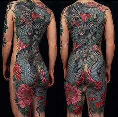 Amazing whole back body #tattoo . Can't imagine how many hours this would've taken but so amazing!