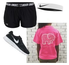 """Athletic"" by kvandop on Polyvore featuring NIKE and Under Armour"