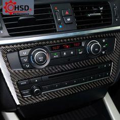 Carbon Fibr AC CD Control Panel Trim Decor Frame For BMW X3 F25 X4 F26 2011-2017