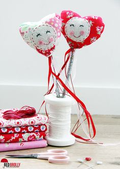 Valentine's Heart Fairy Wand - Red Brolly
