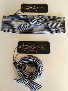 Emily Kai tie headband/wrap bracelet $39