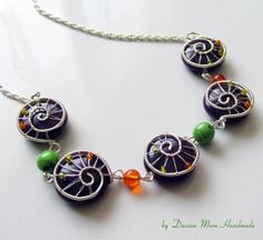 Autumn Evening necklace jade necklace by DacianMoonHandmade