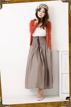 Zip Up Maxi Skirt