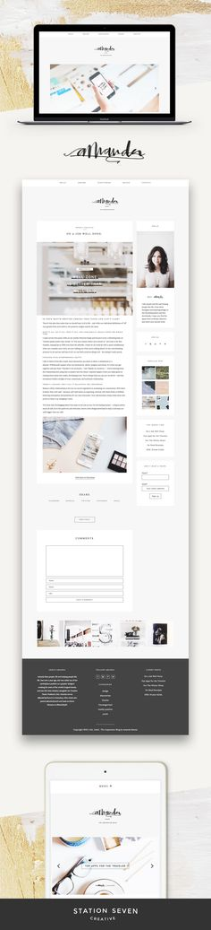 Soft yet fun take on Station Seven's WordPress Kindred theme by Amanda Raines.