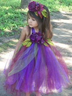 Pretty Plum Autumn Elegance Tutu DRESS Wedding by CHICLILLOVEBUGS, $64.00