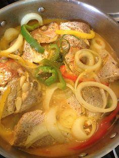 Poison en Sauce. Haitian Red Snapper. Haitian Fish Recipe, Haitian Food Recipes, Jamaican Recipes, Fish Recipes, Seafood Recipes, Dinner Recipes, Cooking Recipes, Healthy Recipes, Donut Recipes