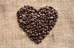 Coffee Beans Heart Photograph, Food Photography, Photo Print, Large Wall Art, Home Decor, Kitchen Decor, Dining Room Decor. Brown Tan Rustic
