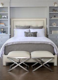 Fab shabby chic, grey & white bedroom