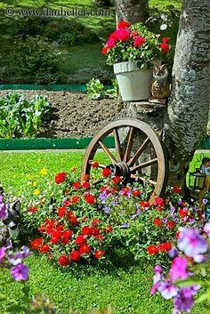 Backyards Click: Love the wagon wheel